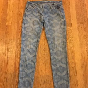 7 For All Mankind the Skinny Aztec print size 29